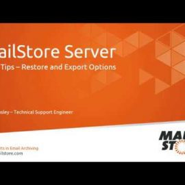 Tech Tips: Restore and Export Options